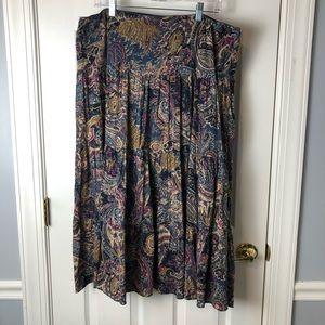 Chaps Bohemian Skirt  XL